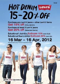 Levi's on sale in Bangkok..