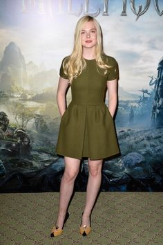 Fabulously Spotted: Elle Fanning Wearing Valentino - 'Maleficent' Paris Photocall - http://www.becauseiamfabulous.com/2014/05/elle-fanning-wearing-valentino-maleficent-paris-photocall/