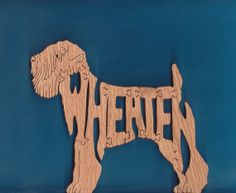 Irish Softcoated Wheaten Terrier Puzzle by DukesScrollSaw on Etsy, $5.00
