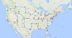 The 13,699-mile journey hits all 50 American landmarks in 224 total hours.