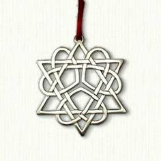 "3 Heart Star of David Ornament Size: 2 3/4"" x 2 3/4"" Cost: $14.95 Velveteen pouch included"