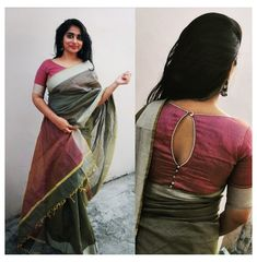 Blouse Back Neck Designs, Fancy Blouse Designs, Bridal Blouse Designs, Blouse Neck Patterns, Kalamkari Blouse Designs, Cotton Saree Blouse Designs, Latest Saree Blouse Designs, Pattern Blouses For Sarees, New Saree Designs