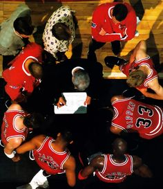 Chicago Bulls huddle