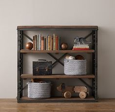 French Library Low Shelving / restoration hardware kids
