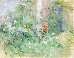The Garden at Bougival. Berthe Morisot was a French painter, member of the Impressionism movement. She married Eugène Manet, who was a brother of Édouard Manet. Oil On Canvas, Canvas Wall Art, Wall Art Prints, Canvas Prints, Edouard Manet, Pierre Auguste Renoir, French Impressionist Painters, Berthe Morisot, Mary Cassatt