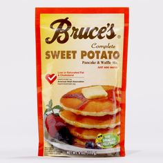 Bruce's Sweet Potato Pancake Mix makes the best muffins! Add fruit to the batter!
