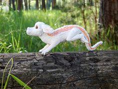 Falkor figurine sculpture handmade of clay The Neverending