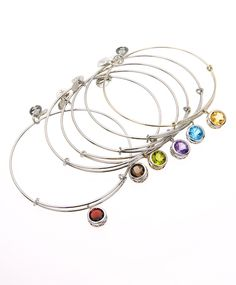 Alex and Ani Silver Birthstone Bangles... Would love to have one for each kiddo