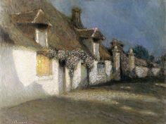Henri Le Sidaner. Cottages in the Moonlight, 1901