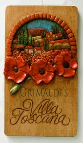 Villa Toscana Tuscan Poppies Personalized Sign for your home