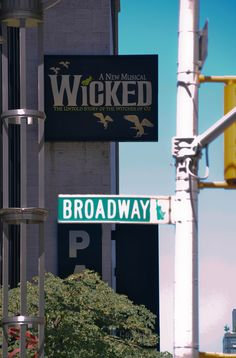 wicked on broadway. I also think that it's kinda ironic that the wicked in London is on Victoria st. and it's in the Apollo Victoria theater.