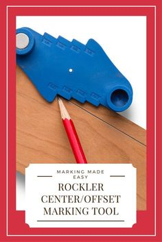 This perfect marking tool straddles your board to mark a perfectly centered line, or you can use the notches to mark offset lines from 1/16'' to 1/2'' from the edge in 1/16'' increments.