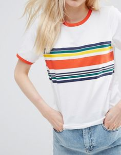 ASOS T-Shirt With Placement Stripe