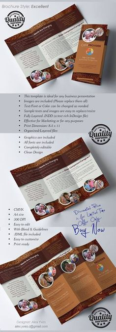 Brochure Trifold, Text Fonts, Facebook