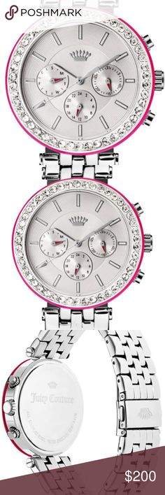 Juicy Couture Women's Venice Watch -NEW Juicy Couture, Venice, Women's Watch, Stainless Steel Case, Stainless Steel Bracelet, Quartz (Battery-Powered. Ships immediately. Juicy Couture Accessories Watches