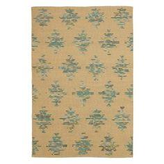 Hacienda Rug in Turquoise (Geometric Pattern, Flatweave Rugs) | Handmade Area Rugs from Company C