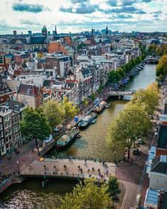 Amsterdam - Architecture and Urban Living - Modern and Historical Buildings - City Planning - Travel Photography Destinations - Amazing Beautiful Places Amsterdam Living, Amsterdam City, Amsterdam Travel, Paris Travel, Amsterdam Wallpaper, Tumblr Travel, Beach Trip, Beach Travel, Luxury Travel