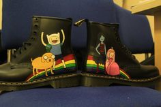Handpainted Adventure Time Doc Martens by TheFloor on Etsy  I need this more than anything in the whole world!