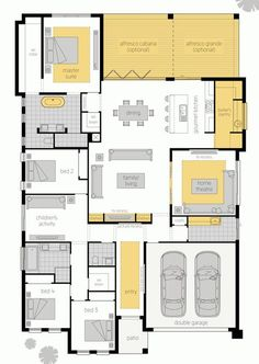 I'd put a secret door through from the lounge to the childrens activity room... Floor plan RHS