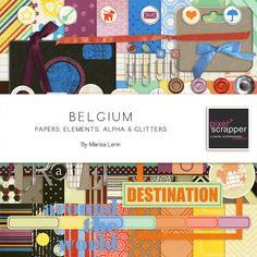 Belgium Bundle by Marisa Lerin | Pixel Scrapper digital scrapbooking