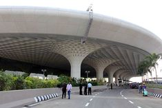 Related image Mumbai Airport, In Mumbai, Tree Structure, Canopy, Gate, Street View, Clouds, Architecture, Travel