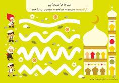 Ramadhan Free Printable – The Gang of Fur Ramadan Activities, Free Activities For Kids, Ramadan Crafts, Free Preschool, Preschool Worksheets, Infant Activities, Preschool Activities, Arabic Alphabet For Kids, Islam For Kids