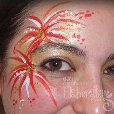 Cute face paint idea for the 4th