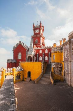 Just 30 minutes from Lisbon you'll discover the enchanting UNESCO Cultural Landscape of Sintra. The region is home to an ensemble of incredible monuments gardens and parks - including the incredible Pena Palace perched up on the Sintra Mountains :