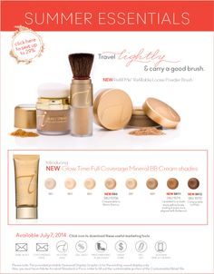 Jane Iredale makeup - Summer Essentials!