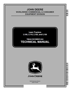 repair manual John Deere L100 L110 L120 L130 Lawn Tractors Technical Manual PDF TM2026