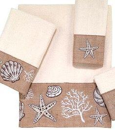 Shoreline Naturals Embroidered Towel Sets