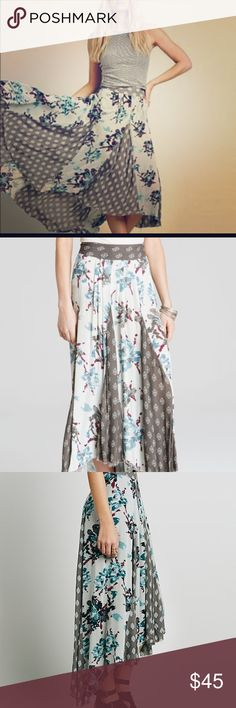 Free People Mint Show off Your Maxi Skirt Absolutely beautiful skirt!! Pre-loved, but still has a lot of life left in it! This one's a reposh and unfortunately too big for me now! Looking to trade for same skirt in size small or make my money back for something different! Questions and offers welcome! 😆🌸 **Will post actual skirt photos later this week** Free People Skirts Maxi