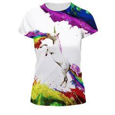 ummer Funny T-shirt Women Tiger Lion Printed Tops Tees Men 3d Short-sleeve