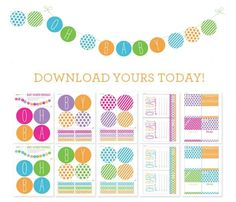 Free Baby Shower Printables | Boy and Girl Themes