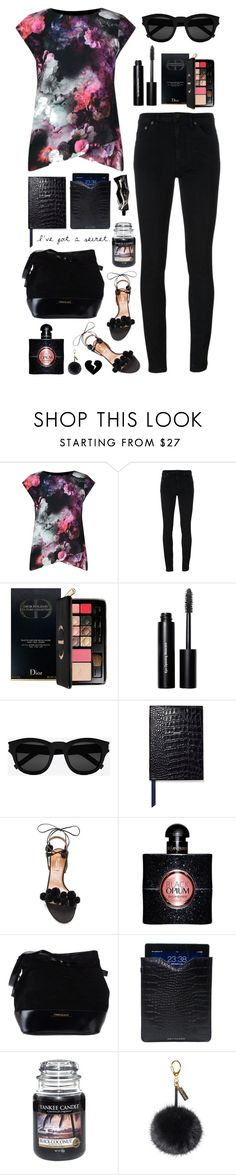 """""""Untitled #819"""" by alissar13 ❤ liked on Polyvore featuring Yves Saint Laurent, Christian Dior, Bobbi Brown Cosmetics, Smythson, Aquazzura, Pierre Balmain, Driftwood, Yankee Candle, Helen Moore and Aesop"""