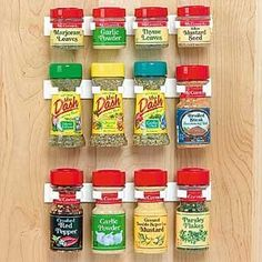 Spice rack idea--may be able to put on inside of cabinet door