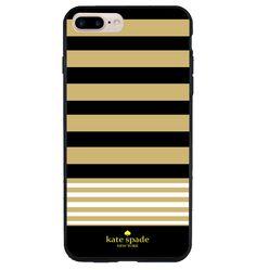 New Design  Rare Kate Spade Pink Black Brown Stripes Hard Case iPhone 6s 7 Plus #UnbrandedGeneric