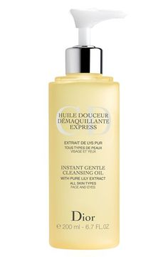 Dior Instant Gentle Cleansing Oil for All Skin Types available at #Nordstrom