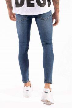 Ripped Denim, Distressed Skinny Jeans, Denim Jeans, Popular Jeans, Adidas, Nike, Skinny Fit, Stretch Denim, Looks Great