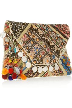 i just have to have it and cant find it anywhere!!! Antik Batik cotton Banjo embellished clutch