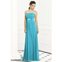 Lux Chiffon Turquoise Blue Bridesmaid Dresses TET276 - $105.00