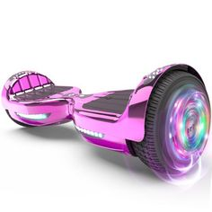 Flash Wheel Certified Hoverboard Bluetooth Speaker with LED Light Self Balancing Wheel Electric Scooter - Chrome Pink Captain America Motorcycle, Marvel Captain America, Batterie Samsung, Electronic Deals, Kids Scooter, Scrambler Motorcycle, Chrome Colour, Ride On Toys, 5th Wheels
