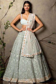 71 Mind-Boggling Lehenga Designs That Will Make Your Day! Blue Lehenga, Lehenga Choli, Anarkali, Sabyasachi Lehengas, Lehenga Blouse, Indian Wedding Outfits, Bridal Outfits, Indian Outfits Modern, Indian Attire
