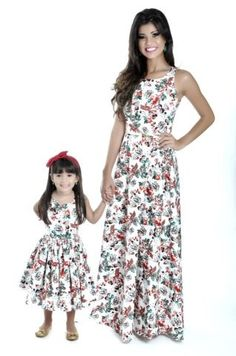 """""""Mommy and I look beautiful in our new matching dresses. Mother Daughter Pictures, Mother Daughter Dresses Matching, Mother Daughter Fashion, Mom Daughter, Mommy And Me Dresses, Mommy And Me Outfits, Kids Outfits, Casual Mom Style, Nice Dresses"""