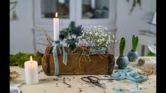DIY Winterdeko in der Ziegelform Simple decorating ideas for the period between Christmas and Easter Winter Diy, Winter Garden, Diy Easter Decorations, Decoration Table, Outdoor Decorations, Diy Osterschmuck, Easter Crafts For Kids, Garden Projects, Spring Flowers