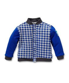 Blue & White Gingham Reversible Jacket - Infant by Noppies Kids on #zulilyUK today!
