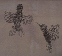 Colibris - Kolibris, fil de fer - Draht, 15 cm, 2014