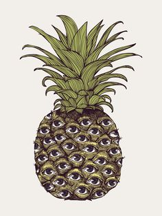 ananas eyes surrealism surrealisme tropical yeux oeil ocular #PineappleObsession