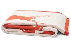 Stag Cotton-Blended Throw, Spice on OneKingsLane.com