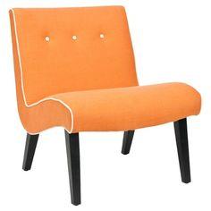 Safavieh Alice Lounge Chair in Orange - MCR4552A